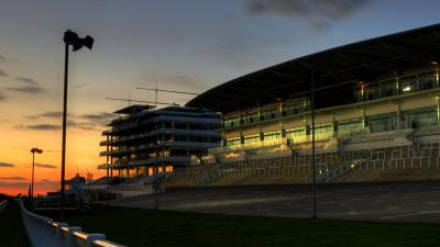 Epsom Racecourse at Sunset