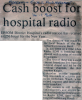 Cash boost for hospital radio.
