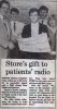Stores gift to patients' radio